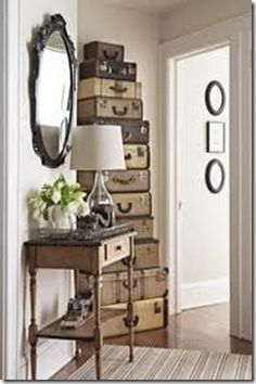 just when i thought i had too many vintage suitcases, I find this idea and now I need MORE