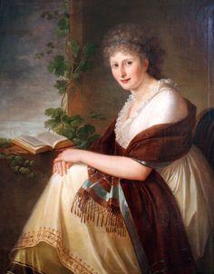 1799, Elisabeth Christiane, Freifrau von Bouwinghausen  by Philipp Friedrich von Hetsch