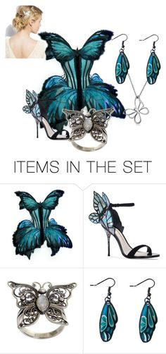 """""""The Butterfly Gala"""" by lovesgood ❤ liked on Polyvore featuring art"""