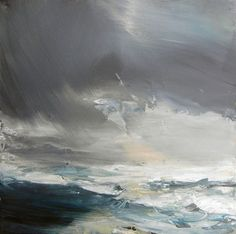 'Priest's Cove study' , oil on canvas, 41x41cm