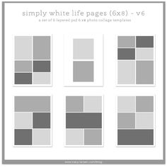 Storyboard Collage Blog Board Photoshop Psd Templates Three X