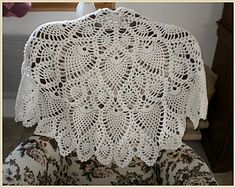 lovely pineapple shawl...charted pattern