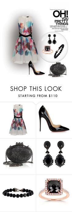 """Untitled #2083"" by swc0509 ❤ liked on Polyvore featuring Little Mistress, Christian Louboutin, Givenchy, David Yurman and Kobelli"