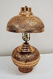 Persian Two-Light Copper Lamp with Shade... My grandmother gave me a plain small copper lamp similar to this, still have it...love it.
