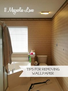 November 2013 - 11 Magnolia Lane recently used the HomeRight SteamMachine to remove wallpaper from the biggest bathroom ever. The SteamMachine was easy to set up and made the pr Window Cleaning Tips, Cleaning Hacks, Home Renovation, Home Remodeling, Old Wallpaper, Home Repairs, Window Cleaner, Modern Wall, Clean House