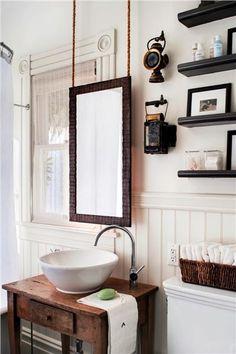 Rustic bathroom ...