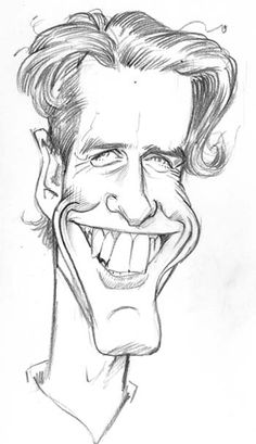 A very quick study of toothy Brit actor Hugh Grant:
