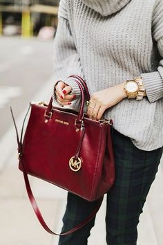 MK bag dark red