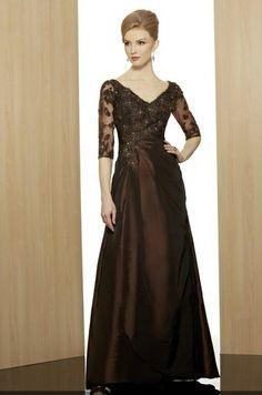 Meier Women&-39-s Short Sleeve Double V-Neck Lace Mother of Bride ...