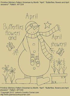 ~ Snowman by Month...April