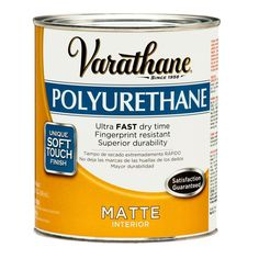 suggested top coat over white chalk paint    Varathane 1 qt. Matte Soft Touch Polyurethane (2-Pack)