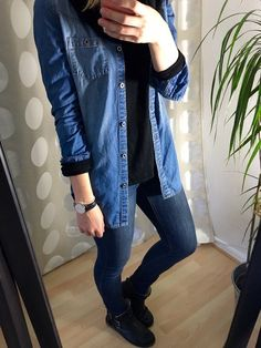 4.6 Jeans on Jeans - recklessly-restless.com  Jeans Outfit mit Jeanshemd