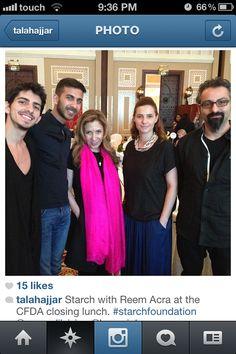 Starch with Reem Acra at Fashion Forward Dubai