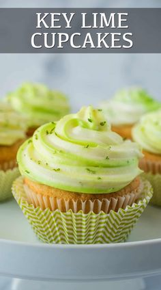Cupcake Recipes, Dessert Recipes, Dessert Ideas, Key Lime Cupcakes, Delicious Desserts, Yummy Food, Cupcake Bakery, Lime Pie, Fresh Lime