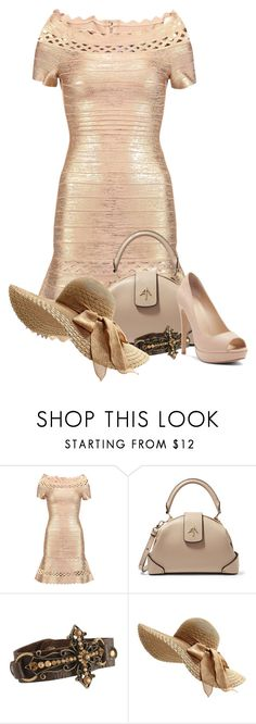 """Easter Attire"" by flowerchild805 on Polyvore featuring Hervé Léger, MANU Atelier and Victoria's Secret"