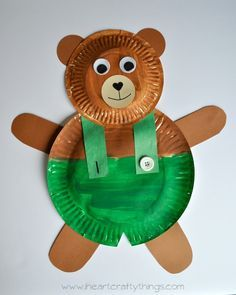 I HEART CRAFTY THINGS Paper Plate Corduroy Craft & Pin by Courtrfrantz on Infants | Pinterest | Teddy bear Camping ...