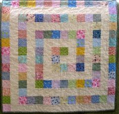 Could be done with light and dark 2.5 inch squares.