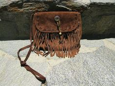 Vintage fringe purse from the 70's. Love.