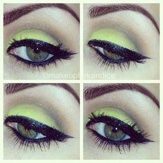 Chunky #neon eye shadows! #makeup