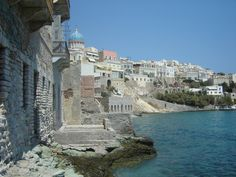 Syros Island in Greece - Chorale might tour there in summer Syros Greece, Places In Greece, Greece Holiday, Greek Isles, Boutique Homes, Greece Islands, Vacation Home Rentals, Travel Aesthetic, Tower Bridge