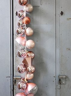 11 IKEA Holiday Decorating Ideas Worth Stealing String a series of different shaped bulbs together, and suspend vertically to create a modern garland. Merry Little Christmas, Modern Christmas, Gold Christmas, Winter Christmas, All Things Christmas, Vintage Christmas, Christmas Holidays, Christmas Ornaments, Christmas Ideas