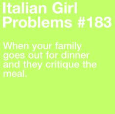 Does this not happen to non-Italians...?