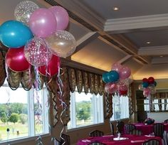 Balloon Centerpieces - Special Event Decor by Monday Morning - Sweet 16 party!