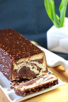 Cake marbré de François Perret, glacé façon Rocher 6
