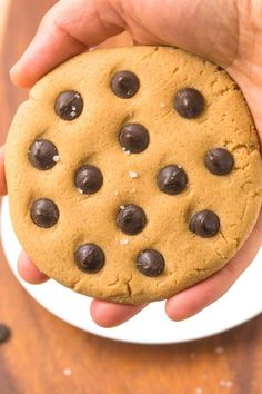 Healthy 3 Ingredient No Bake Low Carb Giant Cookie for One