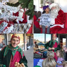 Come join the fun. Saturdays with 🎅 @bonaircenter today noon to 4 pm. December 10 & 17 too. Free 📸 courtesy of @cvspharmacy candy canes, pup treats, magician and live music #santa #marininstagram