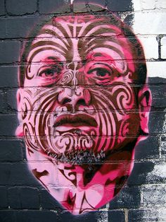 Tame Iti by HaHa - Off Franklin St., Melbourne, Oz