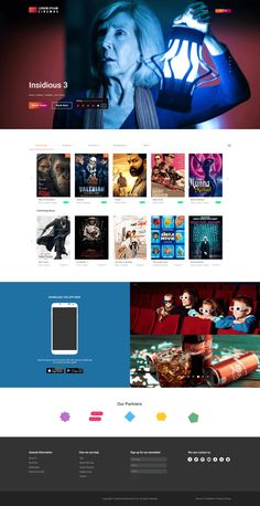 psd Joh Cinemas template | themeswild