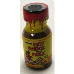 Ass Kickin' Hot Sauce from Hell F03-0340111-3100 - 0.75 oz hot sauce in plastic bottle. A convenient travel size for on the go.