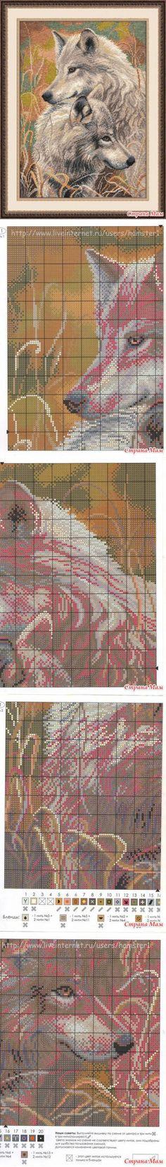 Волчья верность - Схемы для вышивки - Страна Мам
