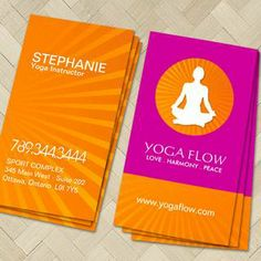 Create your own YOGA Business Cards Online. All templates are Industry Specific and FREE to use.