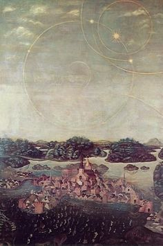 Astral Phenomena in the Sky Over Stockholm, Jacobs Heinrich Elbfas 1636