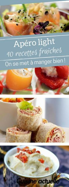 10 recettes pour un apéro light Diät, Tapas, Low Carb Recipes, Vegan Recipes, Snack Recipes, Healthy Cream Cheese, Brunch Buffet, Summer Recipes, Finger Foods, Love Food