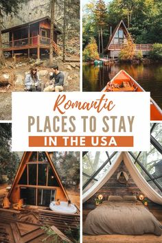 The most romantic vacation rentals in the USA to book right now! Honeymoon staycations in the USA