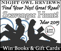 $500 Gift Card? Free ebooks? Find your next great read at the Night Owl Review's March Scavenger Hunt.   http://www.nightowlreviews.com/v5/Blog/Articles/Find-Your-Next-Great-Read-Scavenger-Hunt-March-2015  Amy Quinton   Historical Romance Author – Romance * Sexy * Historical * Love * Magic