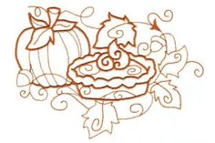 The cool crisp air, the smell of cinnamon, and leaves blowing in the wind…fall is here. This is the beginning... Embroidery Files, Machine Embroidery Designs, Blackwork, Fall Deco, Fall Is Here, Fall Projects, Monochrom, Swirl Design, Line Patterns