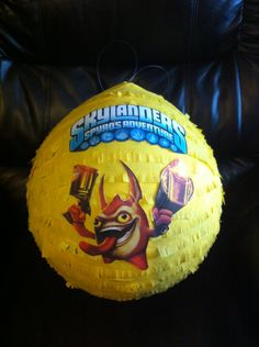 skylander pinata. Could make this with a balloon but put Kaos on it and defeat Kaos for last game