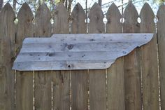 Tennessee cutout in Rustic Reclaimed wood with wire on back for easy hanging…