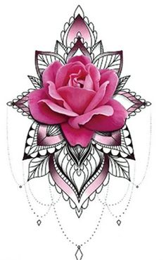 Mandala Tattoo Design, Floral Tattoo Design, Flower Tattoo Designs, Shoulder Tattoos For Women, Arm Tattoos For Women, Side Thigh Tattoos, Rose Back Tattoos, Flower Cover Up Tattoos, Tattoo Dotwork