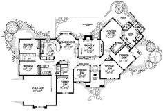 First Floor Plan of Colonial   House Plan 95065