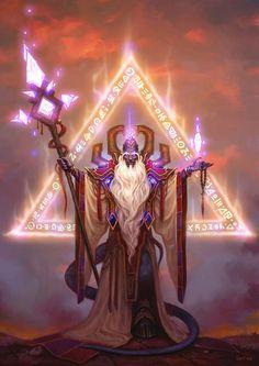 Card Name: Prophet Velen Artist: Wei Wang