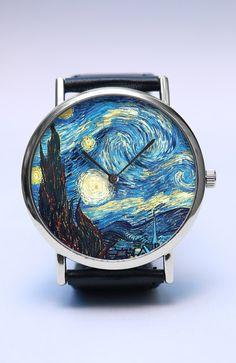 Van Gogh hecho a mano reloj reloj de la noche por LovuTimepieces