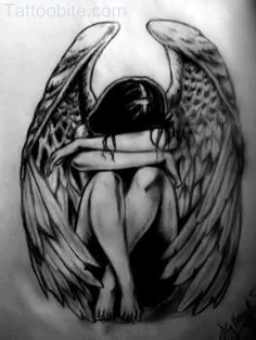 Image detail for -Pin Sad Angel Tattoo Art Tattoobitecom picture to pinterest.