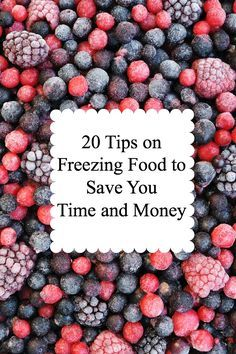 This is a great list of 20 things you can freeze to save you time and money! I…