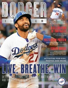 The October edition of Dodger Insider magazine is now available.  Check out the cover featuring Matt Kemp above.