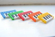 Hama Beads Colourful Keyboard Brooch - £3 on Etsy